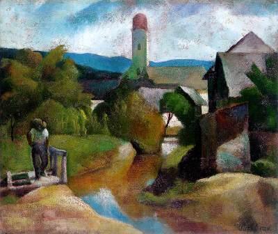 Patkó Károly: Nagybányai részlet (1924)